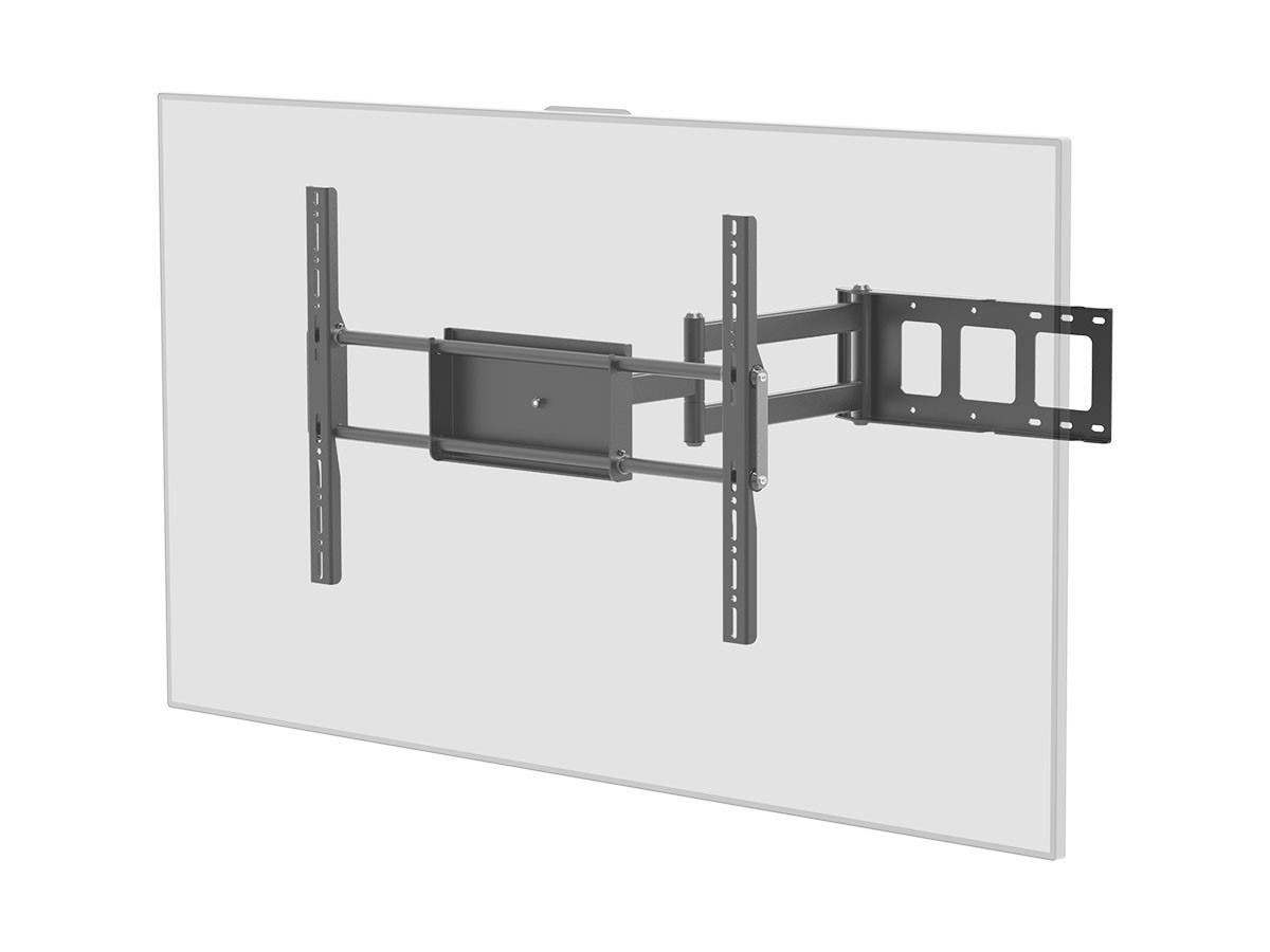 monoprice corner friendly full motion articulating tv wall mount bracket for tvs 37in to 70in. Black Bedroom Furniture Sets. Home Design Ideas