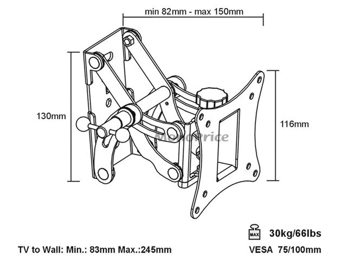 monoprice full motion articulating tv wall mount bracket for tvs Home Theater Systems Setup Guide monoprice full motion articulating tv wall mount bracket for tvs 13in to 27in max