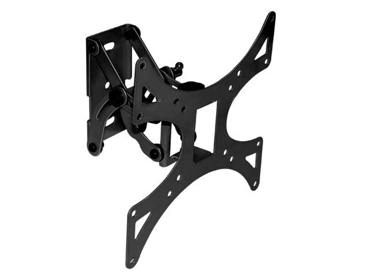 Monoprice Full-Motion Articulating TV Wall Mount Bracket For TVs 23in to 42in, Max Weight 66lbs, Extension Range of 3.3in to 5.8in, VESA Patterns Up to 200x200-Large-Image-1