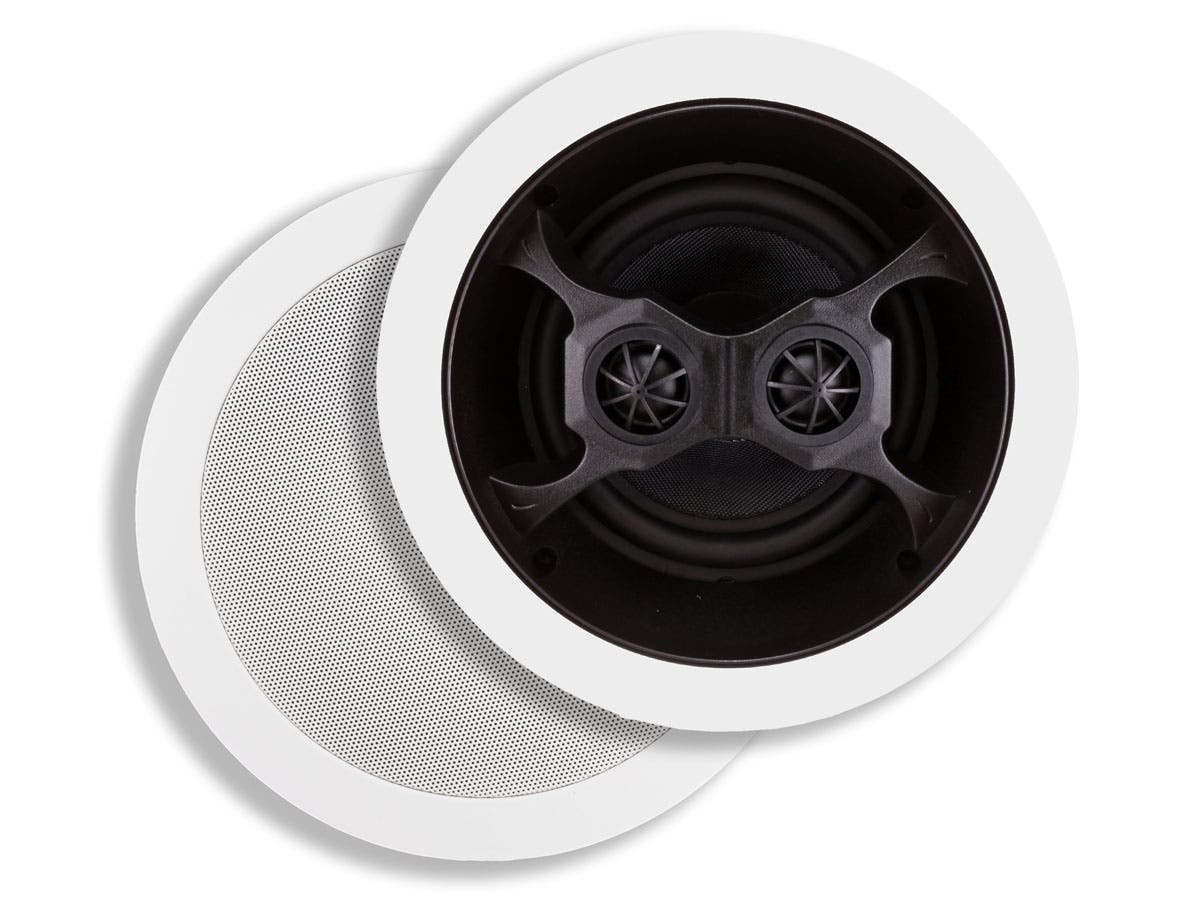 Monoprice Aria In-Ceiling Speakers, 6.5in Dual Input Stereo 2-Way (pair)-Large-Image-1