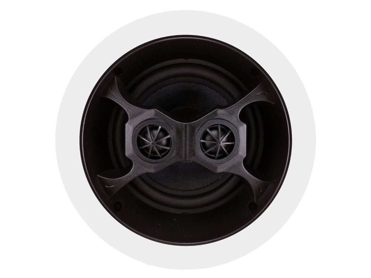 Monoprice Aria In-Ceiling Speakers, 6.5in Dual Input Stereo 2-Way ...