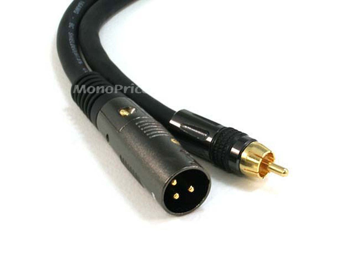 Monoprice 6ft Premier Series Xlr Male To Rca Male Cable