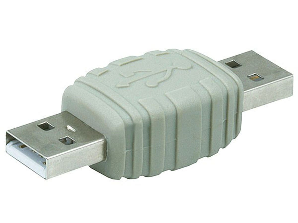 USB 2.0 A Male to A Male Gender Changer Adapter