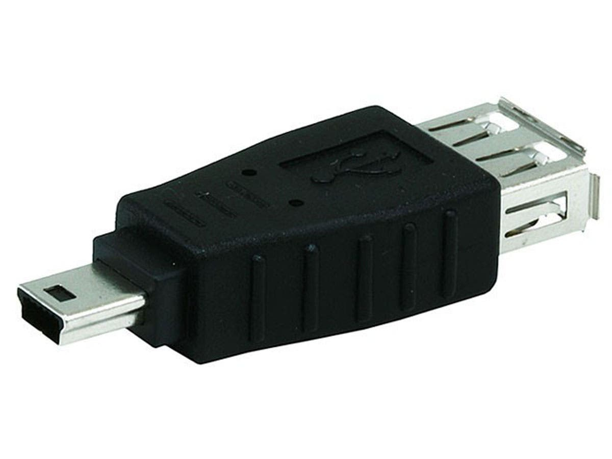 USB A Female to Mini 5 pin (B5) Male Adapter