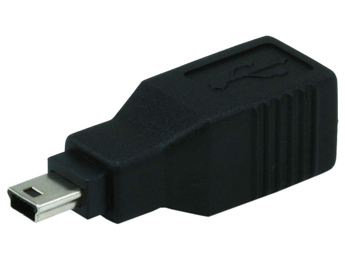 USB 2.0 B Female to Mini 5 pin (B5) Male Adapter
