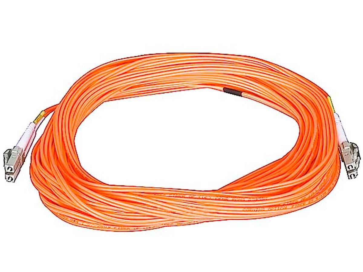 Fiber Optic Cable, LC/LC, OM1, Multi Mode, Duplex - 15 meter (62.5/125 Type) - Orange