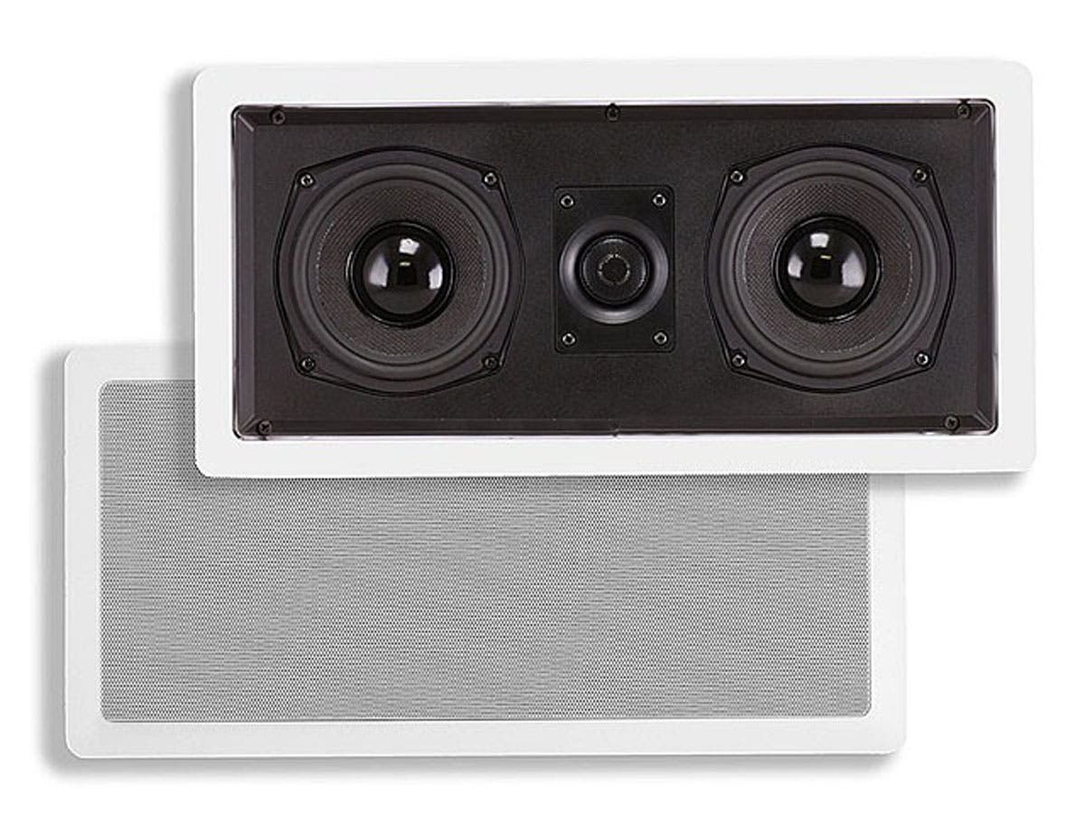 Monoprice Caliber In-Wall Center Channel Speaker, Dual 5.25in (single)-Large-Image-1