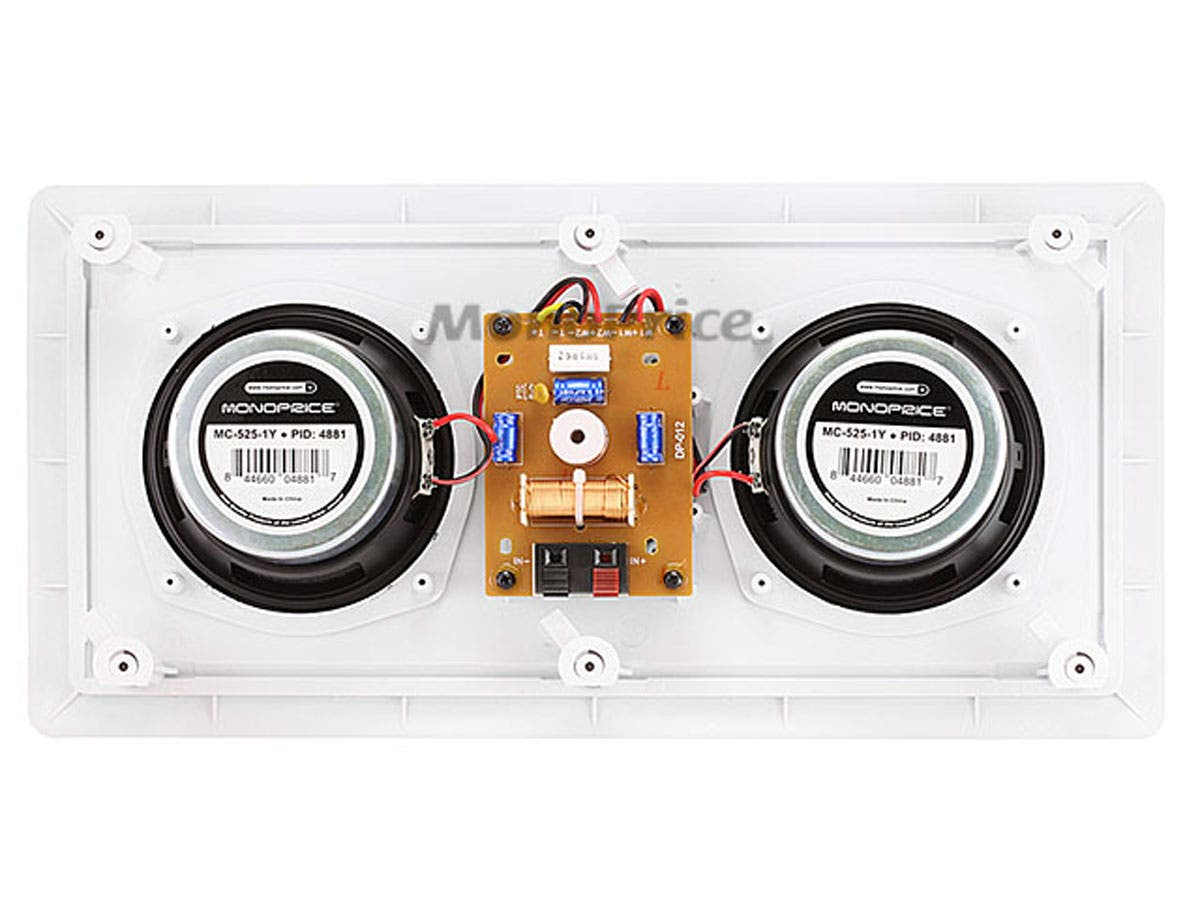 caliber inwall center channel speaker dual 525in single