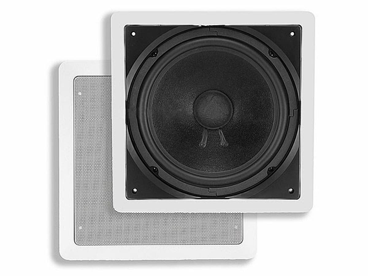 Monoprice Aria In-Wall Speaker, 10in Pive Subwoofer, 200 watts ...