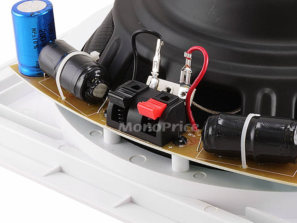 Monoprice Aria In Wall Speaker 10in Passive Subwoofer 200 Watts Wiring Series Parallel Additionally 2 Ohm Max Single