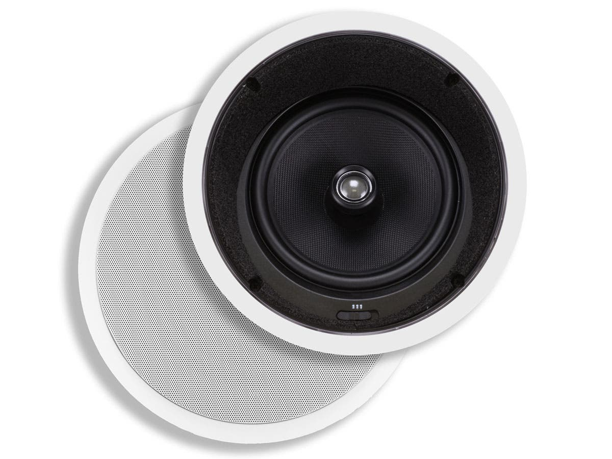 Monoprice Caliber In-Ceiling Speakers, 8in Fiber 2-Way with 15 ...