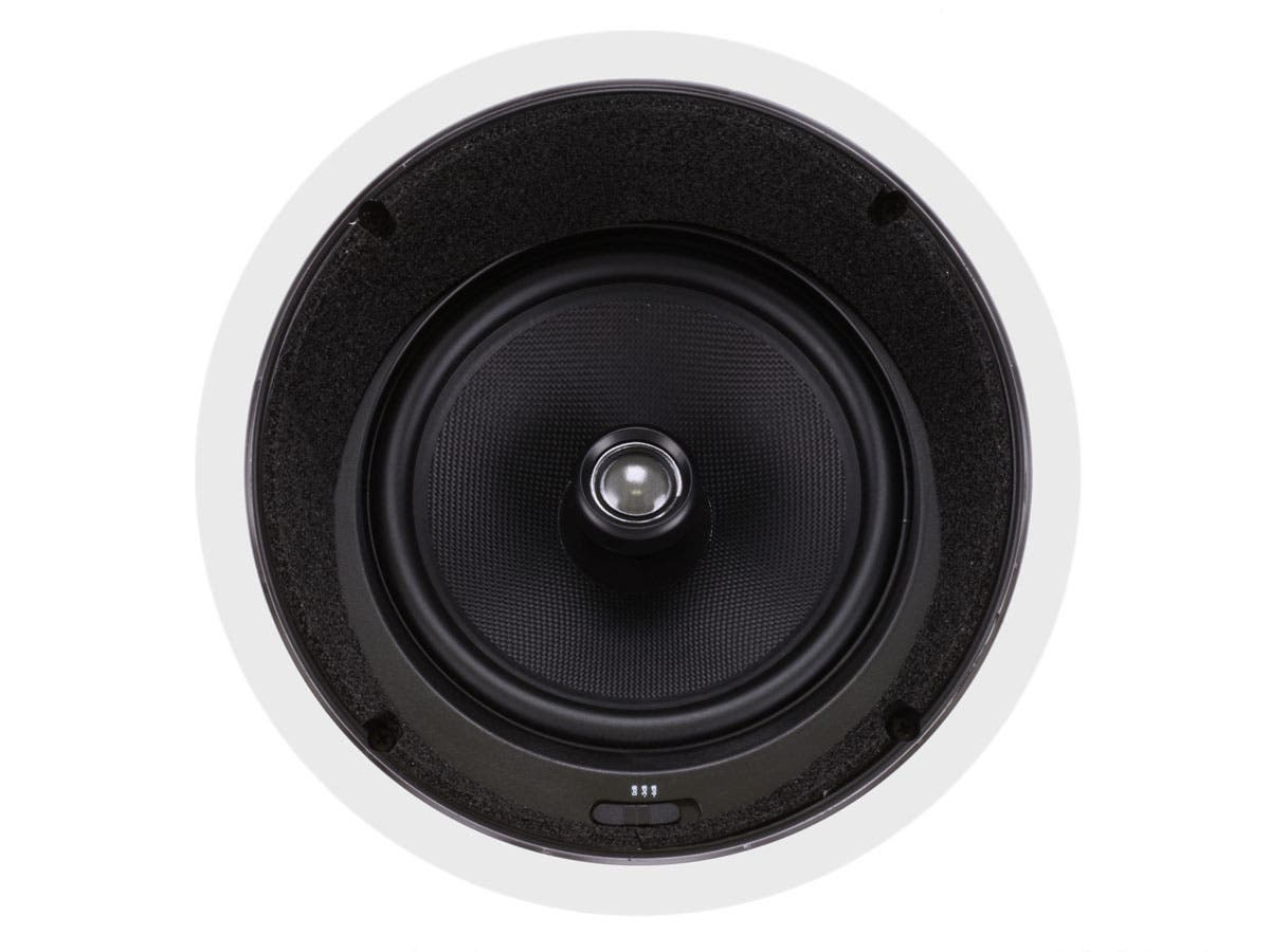 Mono Caliber In Ceiling Speakers 8in Fiber 2 Way With 15 Angled