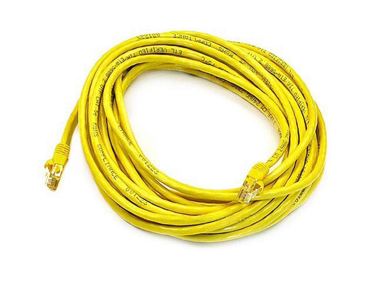 Cat5e 24AWG UTP Ethernet Network Patch Cable, 30ft Yellow
