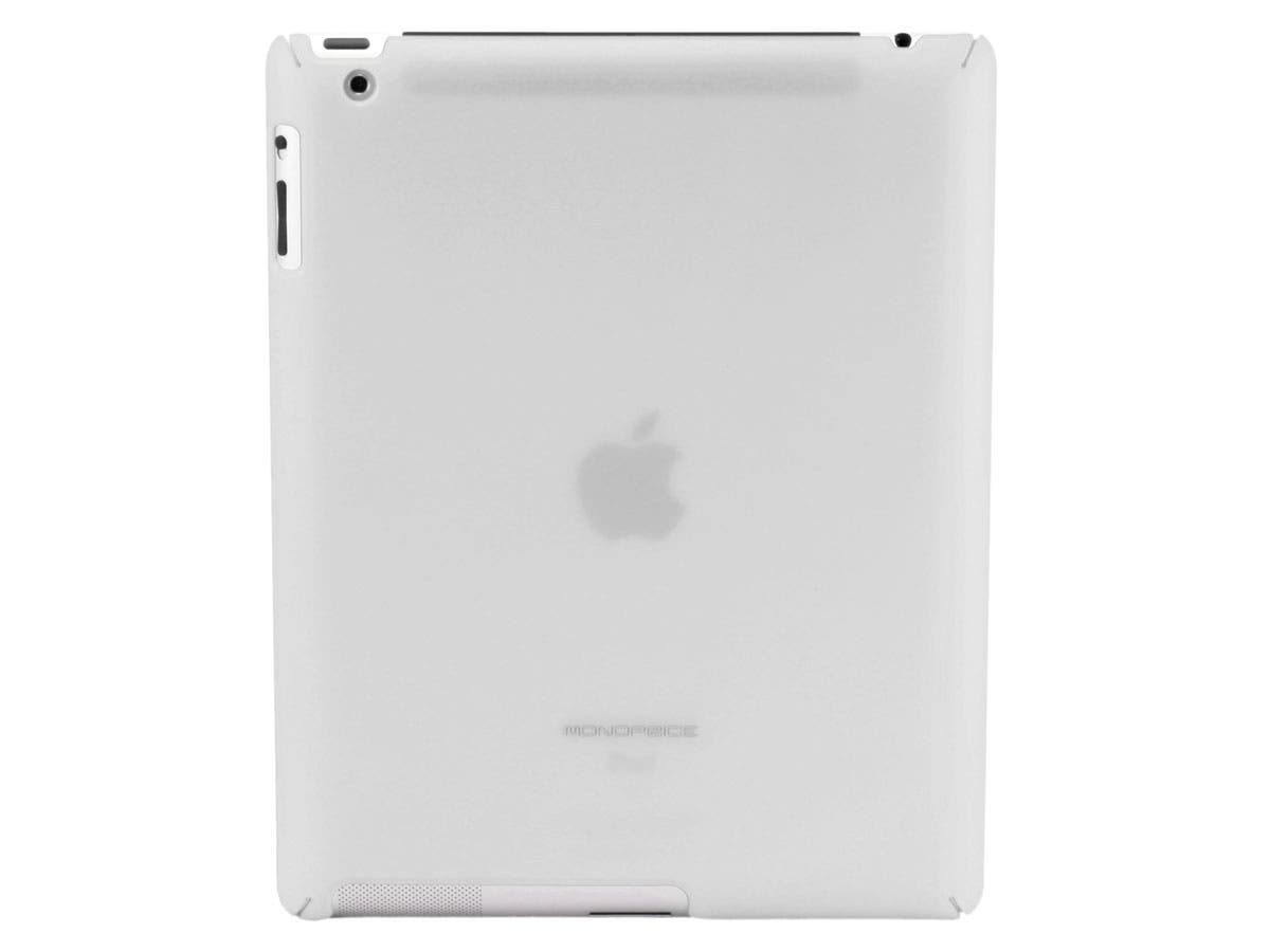 Premium Polycarbonate Case w/ Rubber Coating for iPad® 2, iPad 3, iPad 4 - White