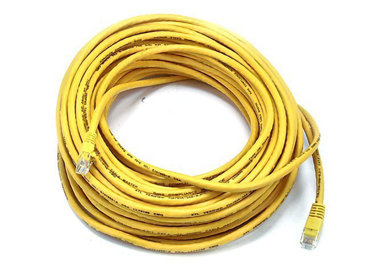 Cat5e 24AWG UTP Ethernet Network Patch Cable, 75ft Yellow