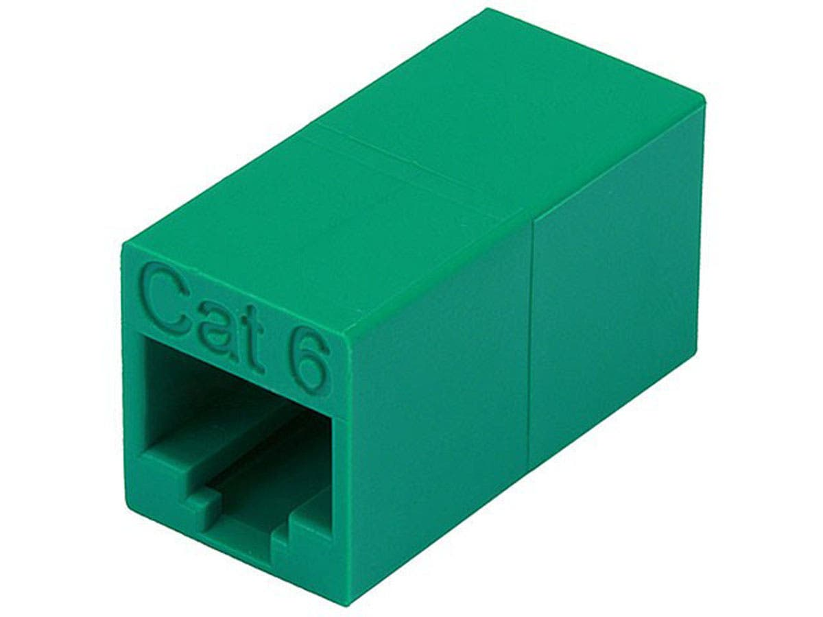 Monoprice Cat6 Crossover Inline Coupler - Green-Large-Image-1