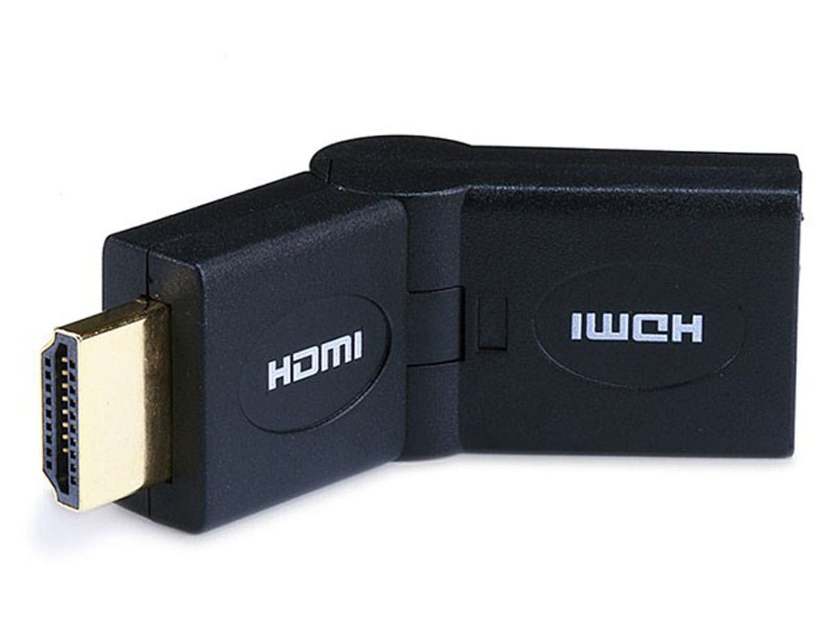 HDMI Port Saver Adapter (Male to Female), Swiveling Type