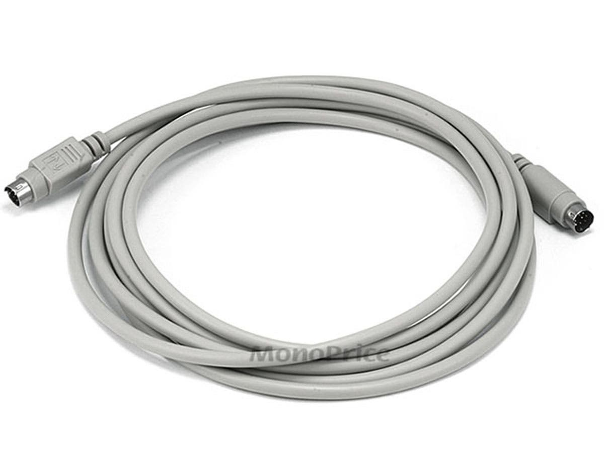 10ft MDIN8 M/M Cable for Mac+/Imagewriter II - Beige