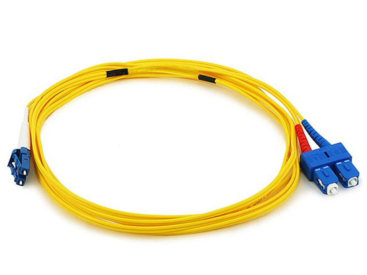 Fiber Optic Cable, LC/SC, Single Mode, Duplex - 3 meter (9/125 Type) - Yellow