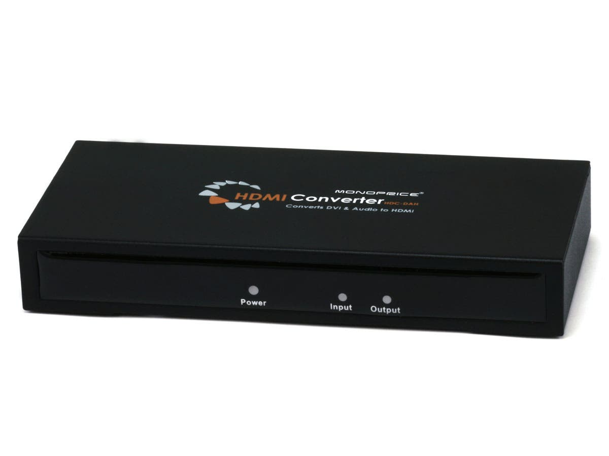 DVI Video + Digital Coaxial and Digital Optical Audio to HDMI Converter