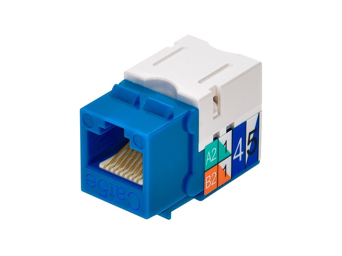 Monoprice Cat5e Punch Down Keystone Jack Blue Wiring Diagrams Small Image 3