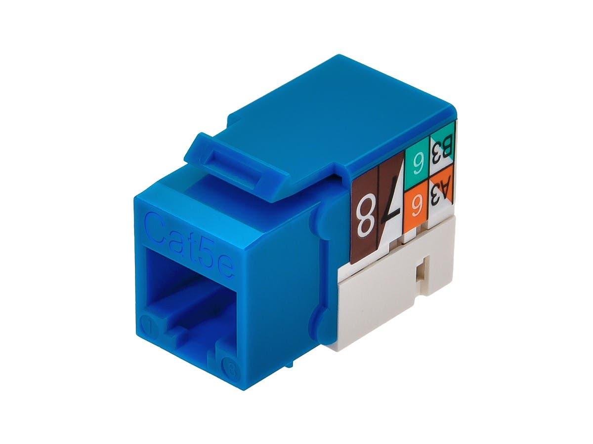 Monoprice Cat5e Punch Down Keystone Jack Blue Cat 5e 110 Type Wiring Diagram Small Image 4