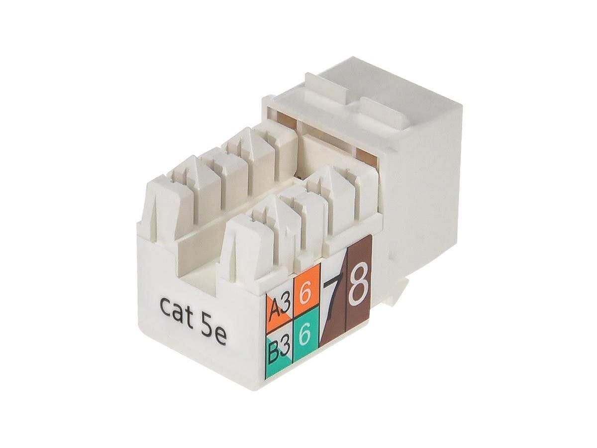 Cat5E Punch Down Keystone Jack White Monopricecom