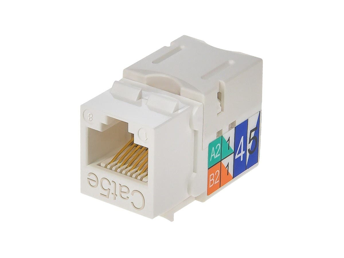 Monoprice Cat5e Punch Down Keystone Jack White Pinout For Rj45 Wiring Diagram Small Image 3