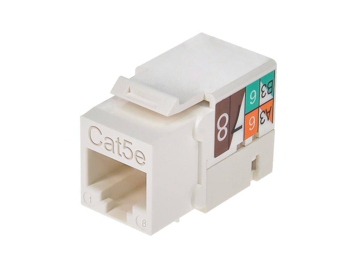Monoprice Cat5e Punch Down Keystone Jack White Pinout For Rj45 Wiring Diagram Small Image 4