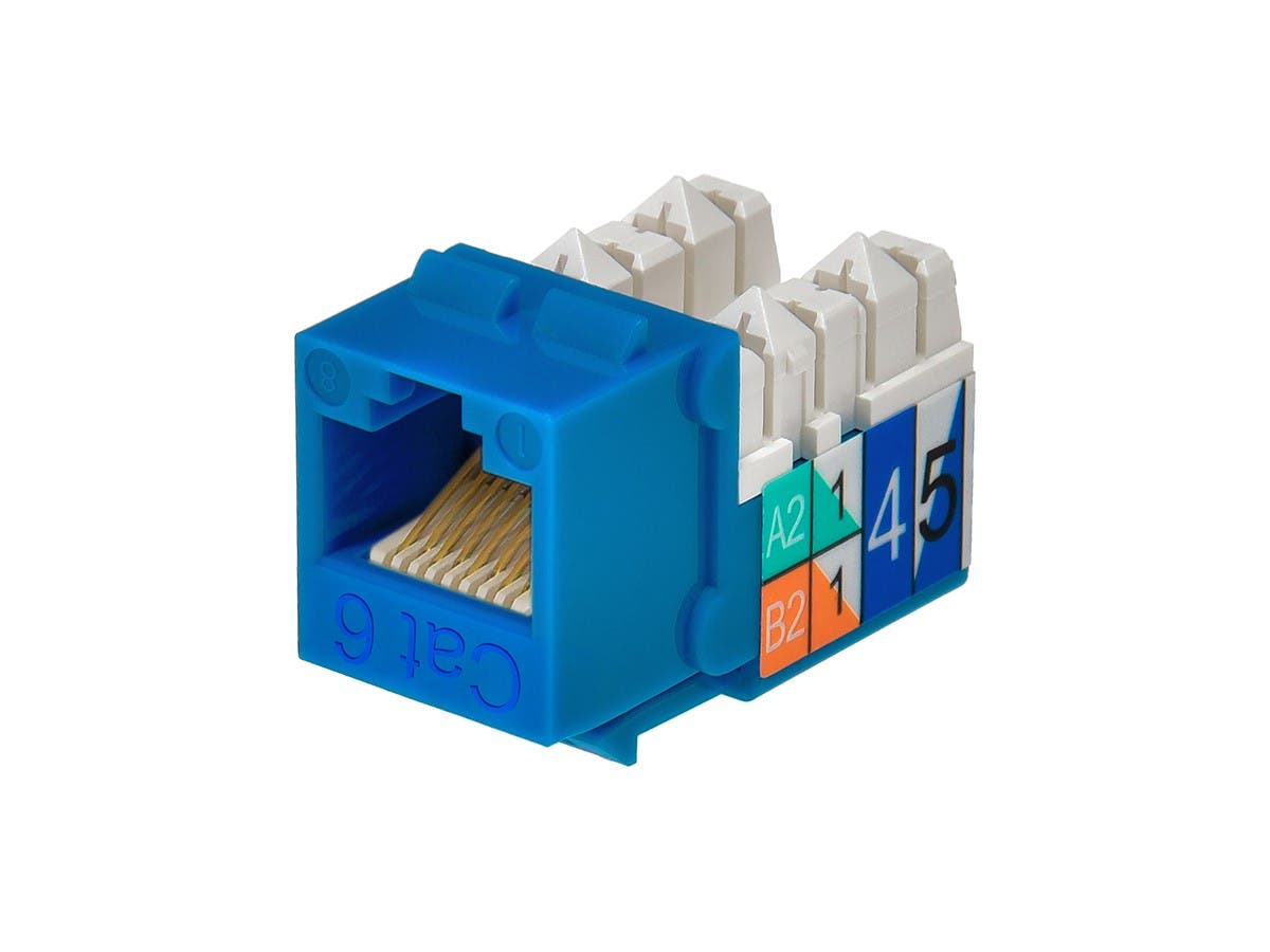 cat6 punch down keystone jack blue monoprice com