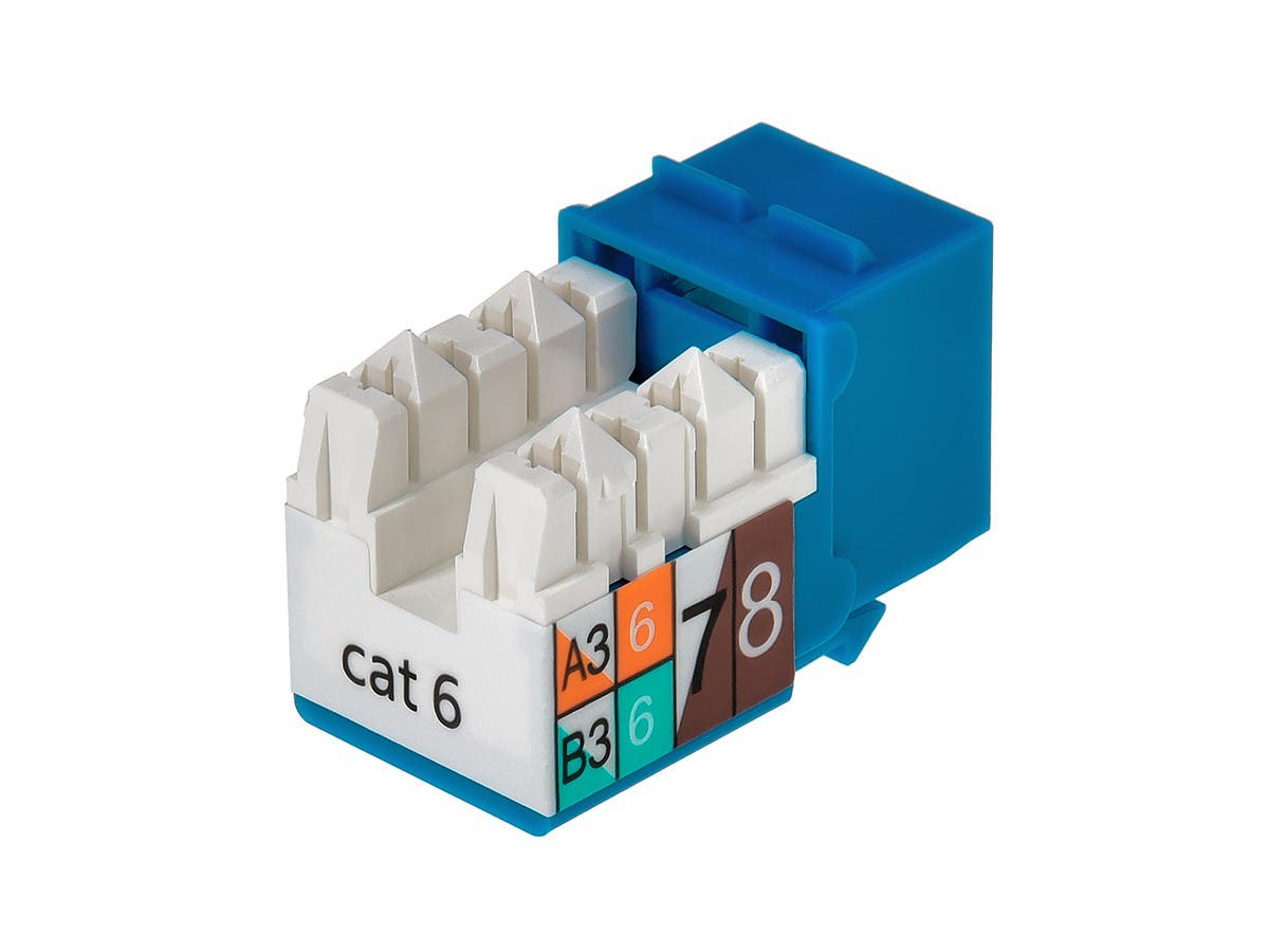 Monoprice Cat6 Punch Down Keystone Jack - Blue-Small-Image-2