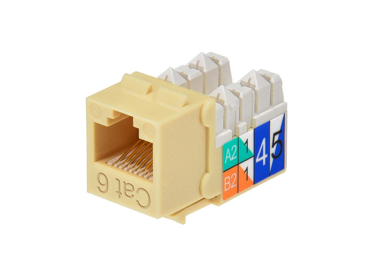 Cat6 Punch Down Keystone Jack - Beige
