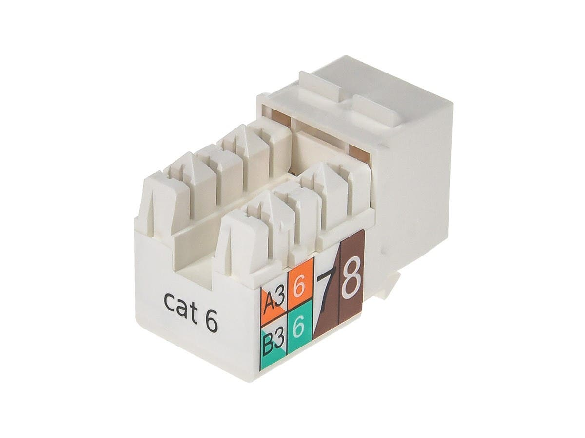 Monoprice Cat6 Punch Down Keystone Jack - White-Small-Image-2