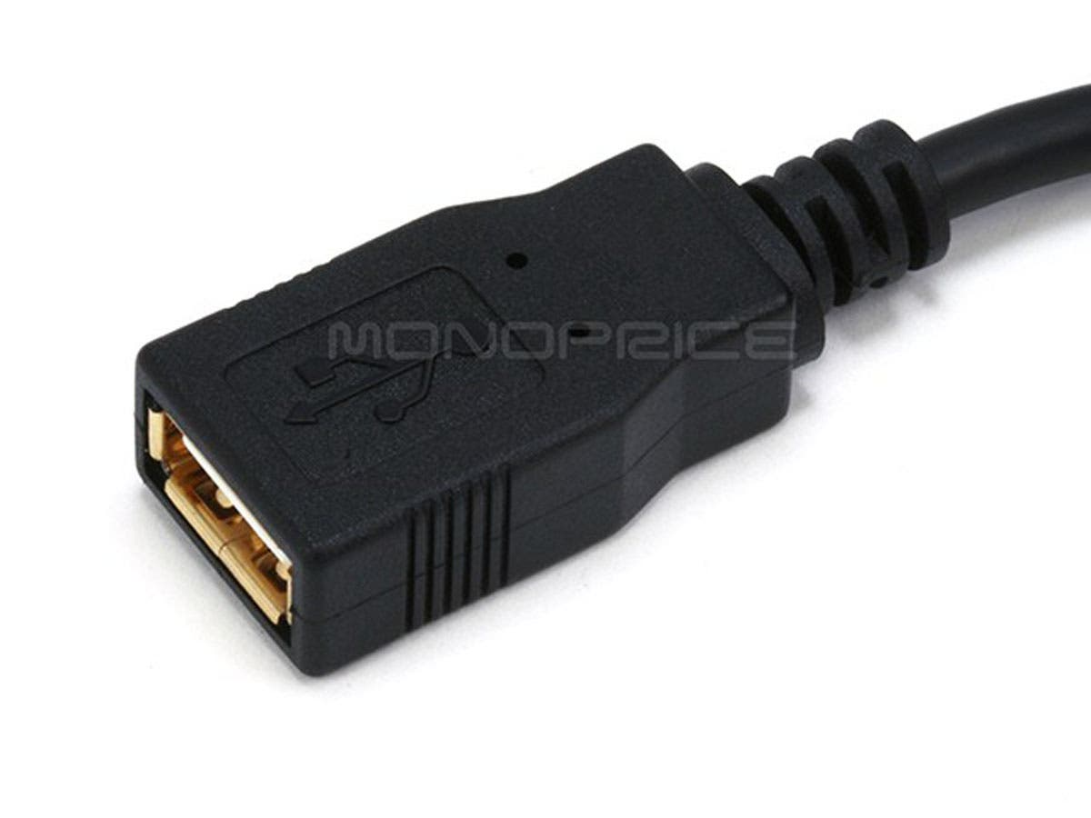 usb a to usb a female 2 0 extension cable 28 24awg gold. Black Bedroom Furniture Sets. Home Design Ideas