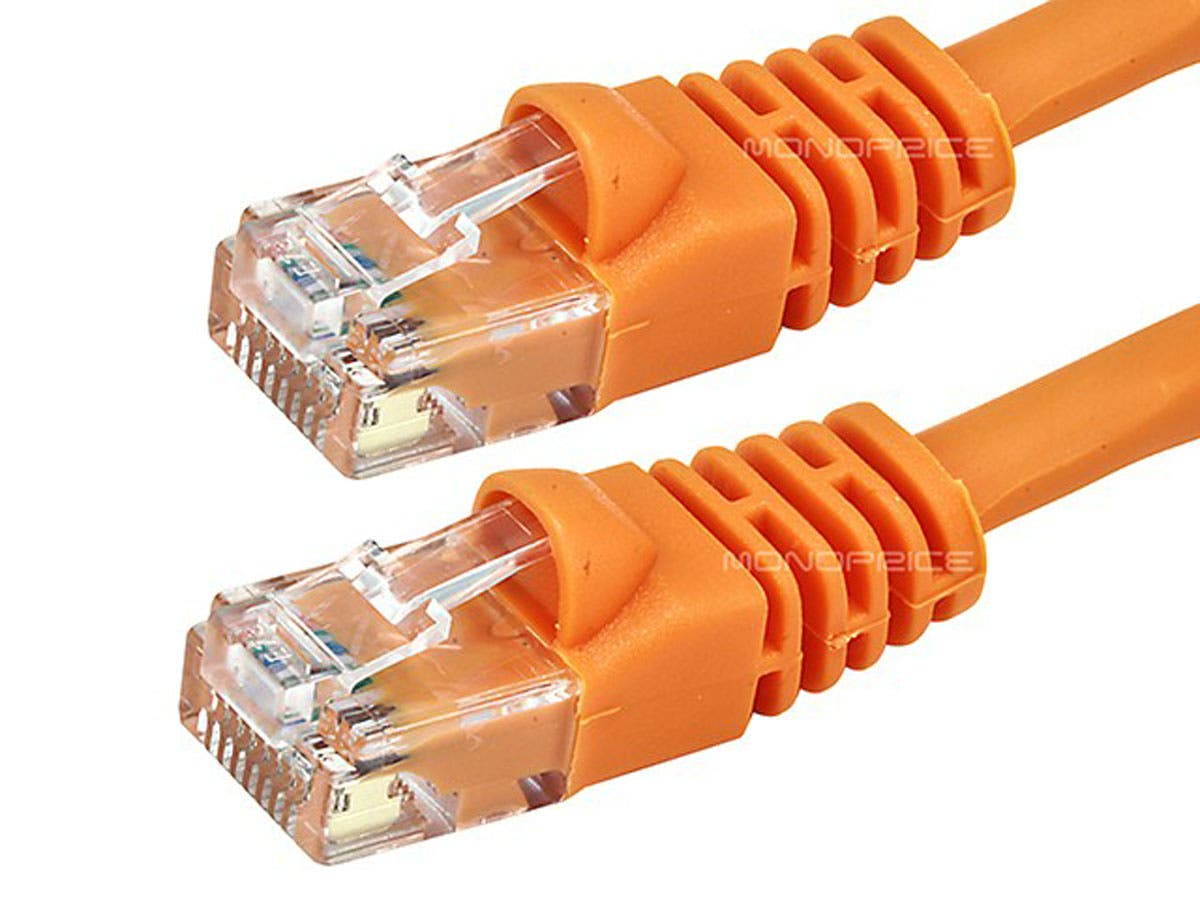 Yellow 29 Ft UL cm and 100/% Copper. 24Awg, 50u Gold Plated RJ45 Computer Networking Cord - Made in USA, Cat5e Ethernet Patch Cable