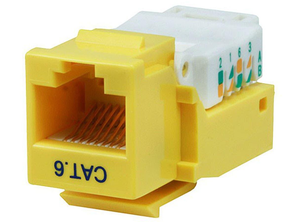 Cat6 RJ-45 Toolless Keystone - Yellow