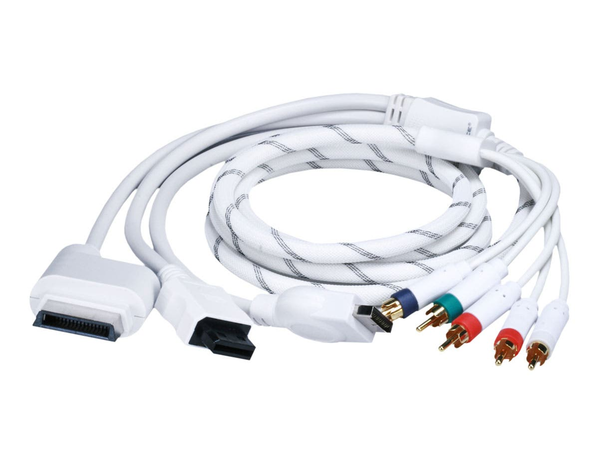 6FT 4 in 1 Component Cable for Xbox 360, Wii, PS3 and PS2 ...