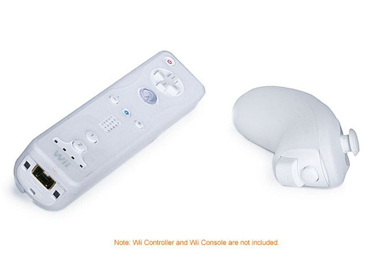 monoprice silicone skin for wii remote control and nunchuk white