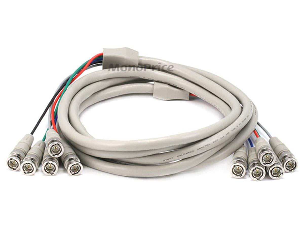 5BNC RGB to 5BNC RGB Video Cable - 10ft
