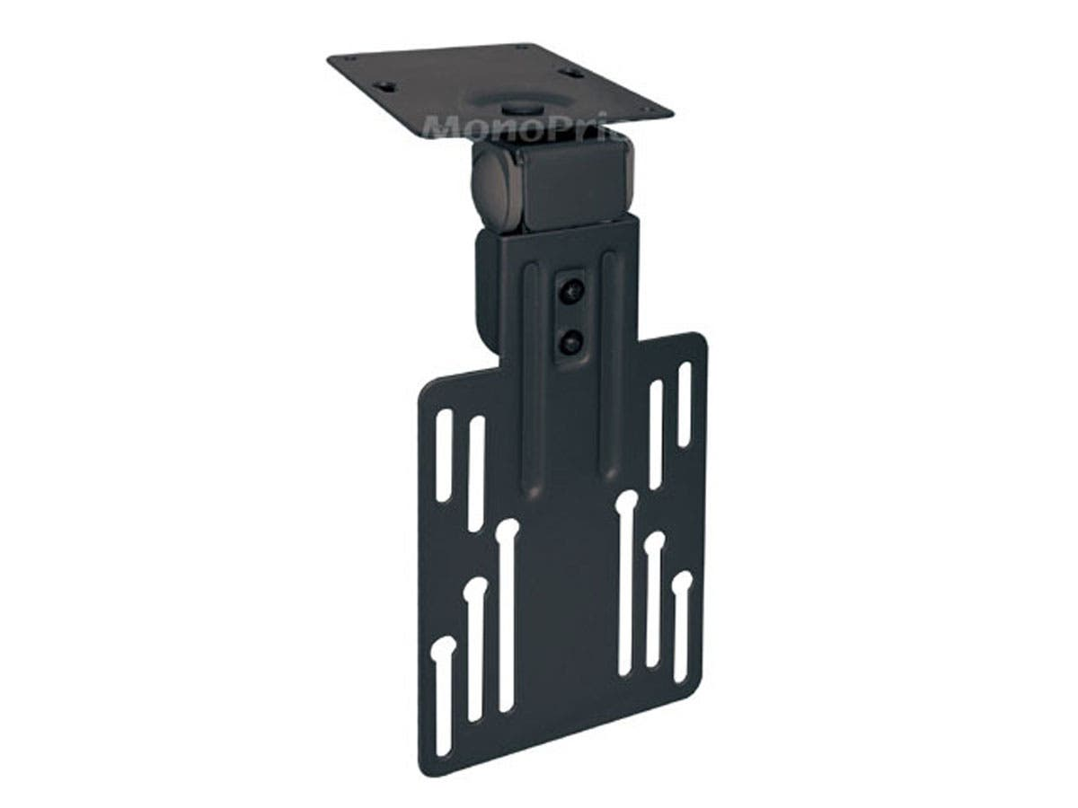 Under Cabinet Tilt TV Wall Mount Bracket - For TVs 9in to 17in, Max Weight 17.6 lbs, VESA Patterns Up to 100x100-Large-Image-1