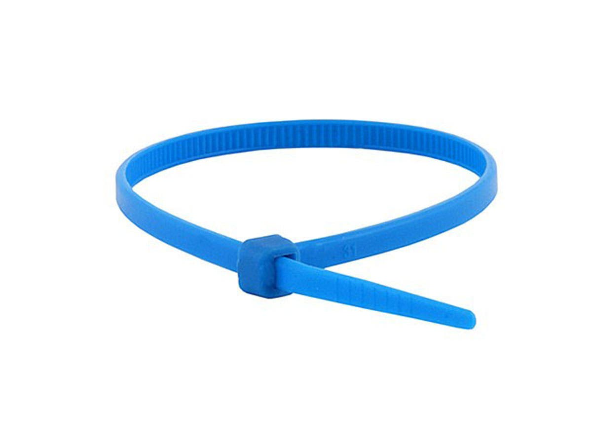 Cable Tie 4in 18 lbs, 100 pcs/pack, Blue