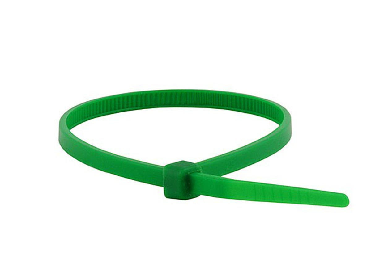 Cable Tie 4in 18 lbs, 100 pcs/pack, Green
