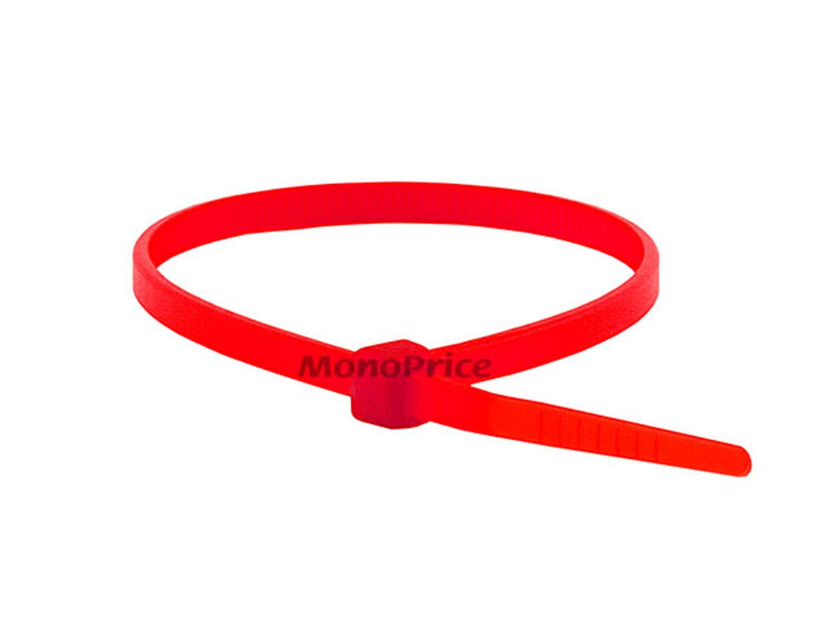 Cable Tie 8 in 40 lbs, 100 pcs/pack, Red