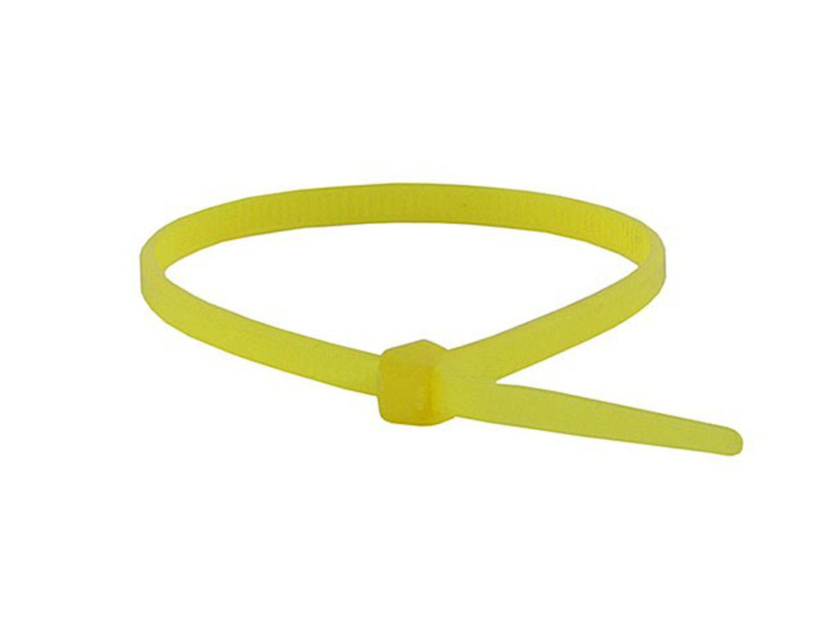 Cable Tie 8in 40 lbs, 100 pcs/pack, Yellow