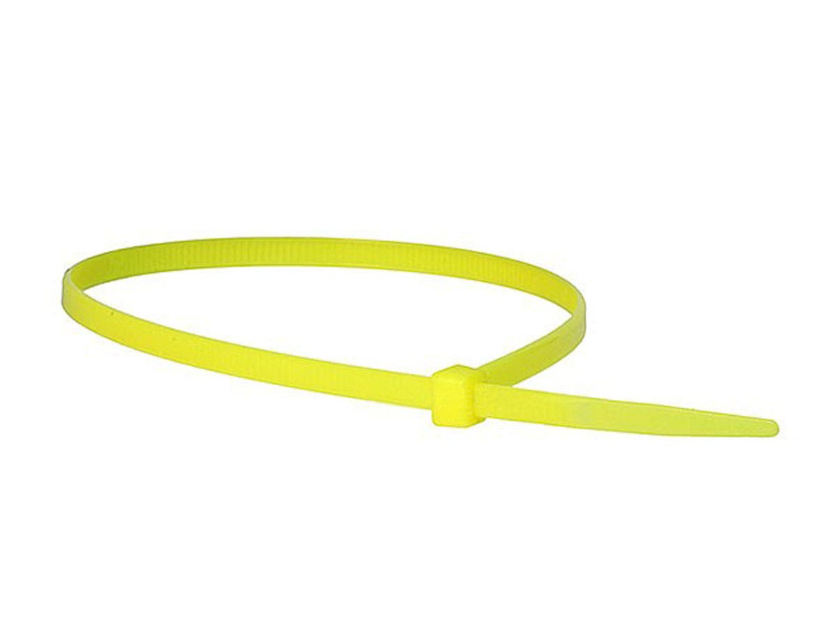 Cable Tie 14in 50 lbs, 100 pcs/pack, Yellow