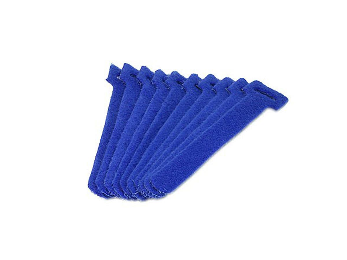 "10pack 9/"" Blue Hook and Loop Self-Attaching Reusable Cable Tie Fastening Tape"