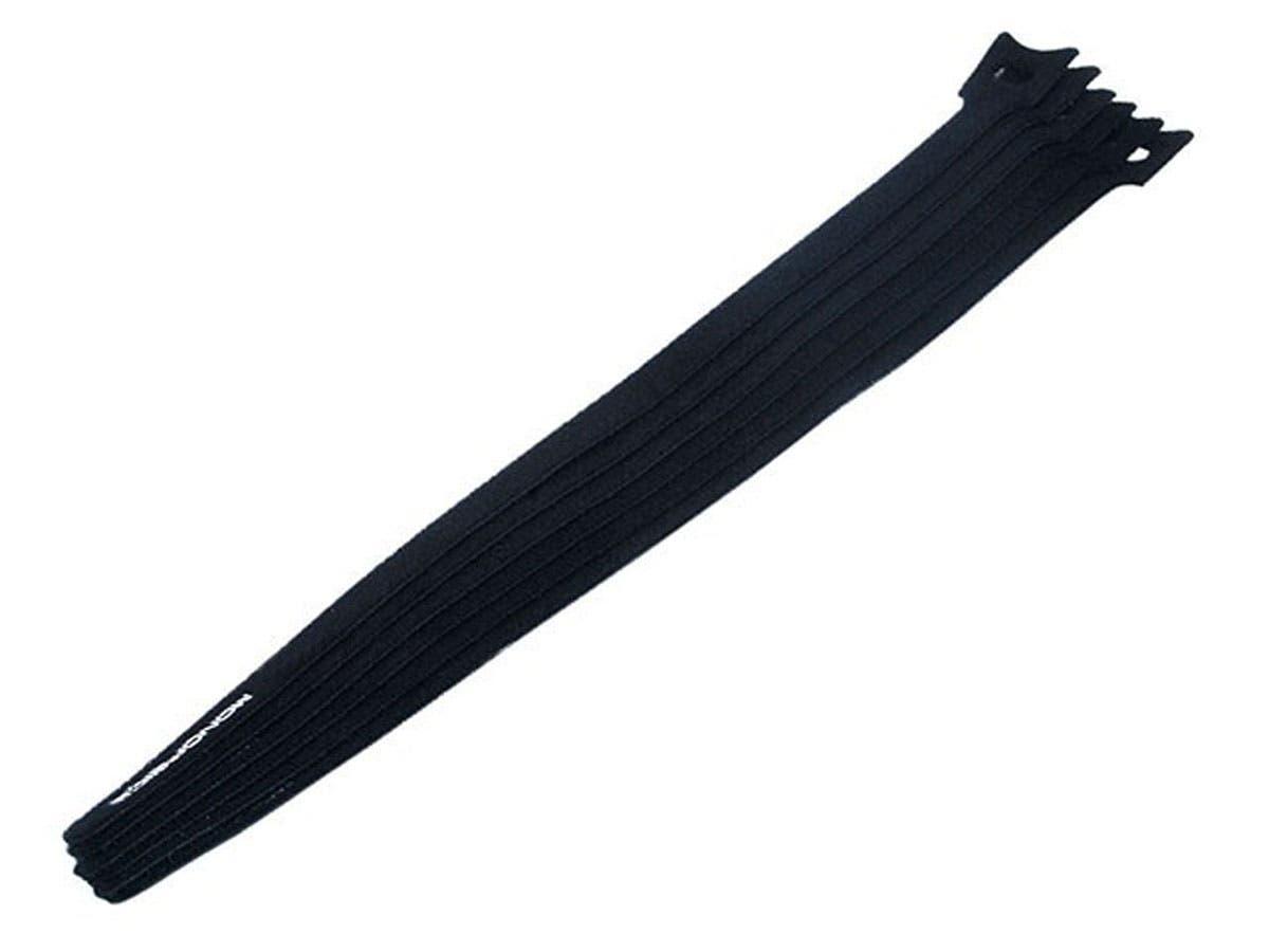 Hook and Loop Fastening Cable Ties, 13 in, 10 pcs/pack, Black