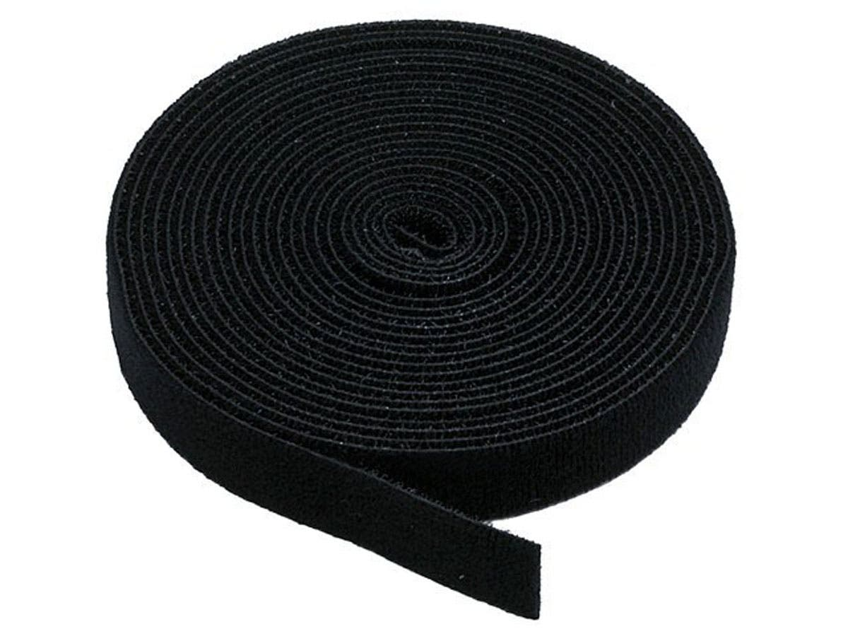 Monoprice Hook and Loop Fastening Tape, 5 yards/roll, 0.75 in, Black-Large-Image-1