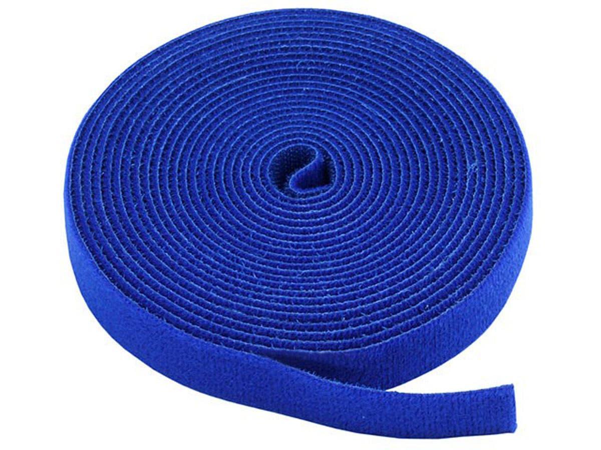 Hook and Loop Fastening Tape, 5 yards/roll, 0.75 in, Blue