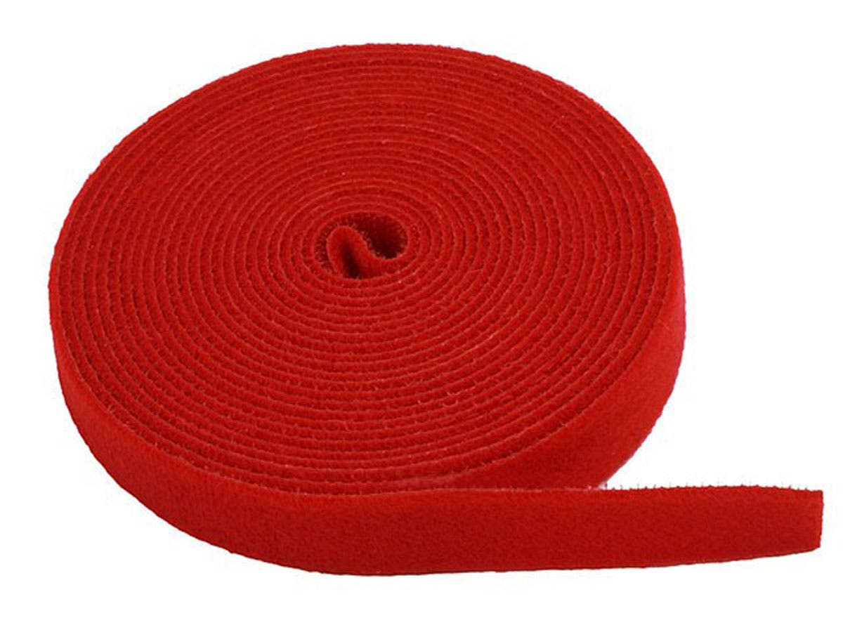 Hook and Loop Fastening Tape, 5 yards/roll, 0.75 in, Red